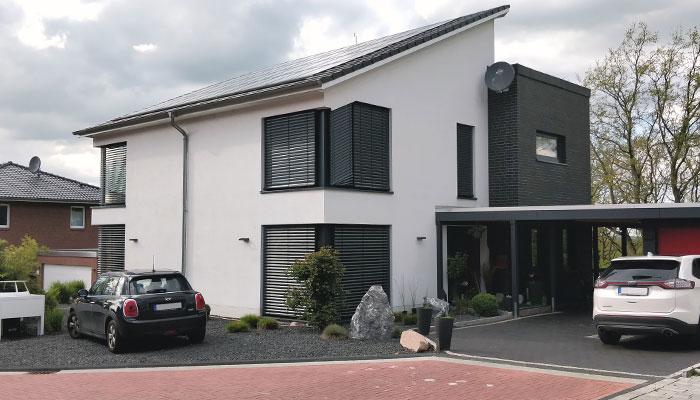 Wohnhaus mit Pultdach